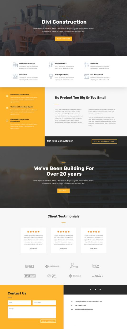 Construction Company Template