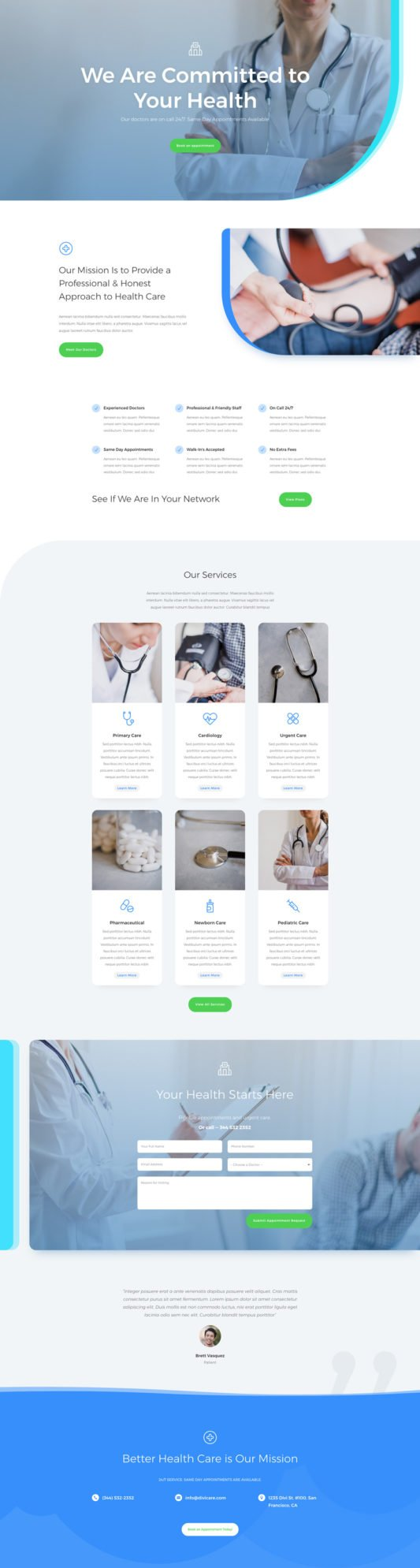 Doctor's Office Landing Page