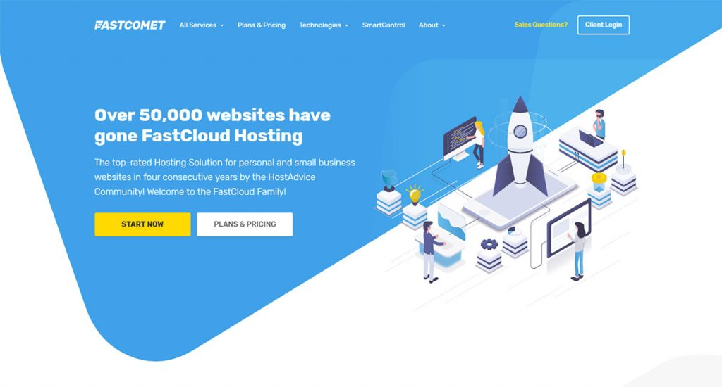 FastComet Web Hosting Review Featured